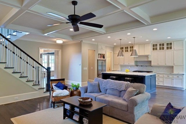 Brookhaven Custom Home - Southern Traditional traditional-family-room