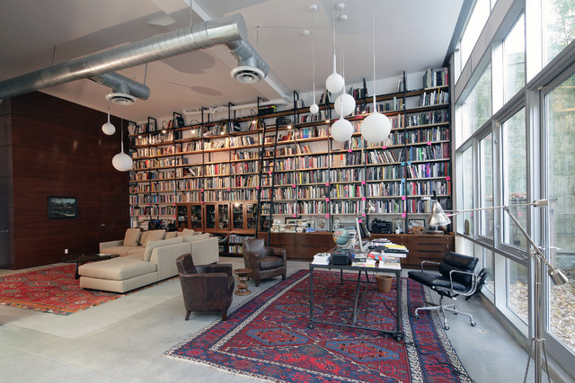 Brooklyn Artist Loft Industrial Family Room New York