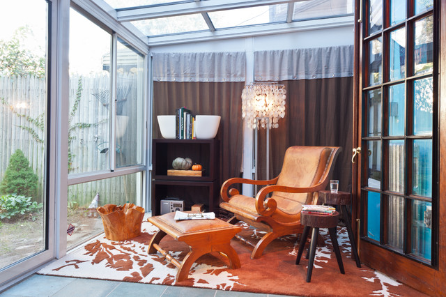 Brooklyn Brownstone Sunroom Eclectic Family Room New
