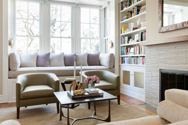 brooklyn brownstone transitional family room new