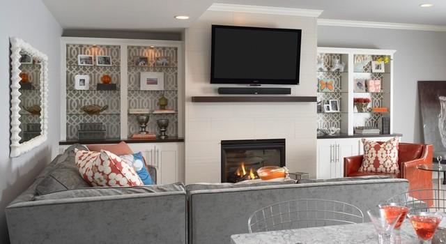 Bruce Avenue Residence Lower-Level Family Room 2 transitional-family-room