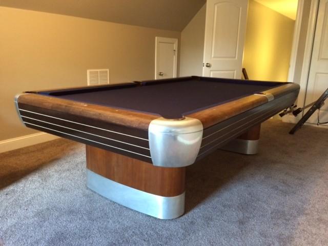 Brunswick Billiards Pool Table Installs Contemporary Family Room