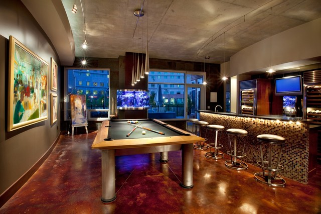 Brunswick Manhattan Contemporary Family Room Houston By - Manhattan pool table