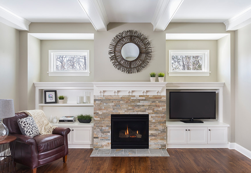 Inspiration for a timeless family room remodel in Minneapolis