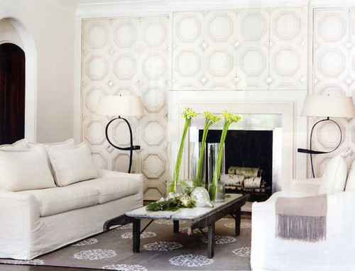 Contemporary Family Room by Atlanta Interior Designers & Decorators Yvonne McFadden LLC