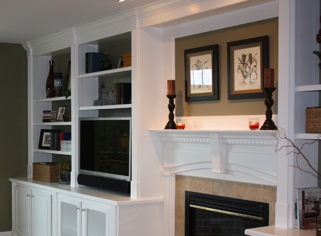 Built-In Bookcases traditional-family-room