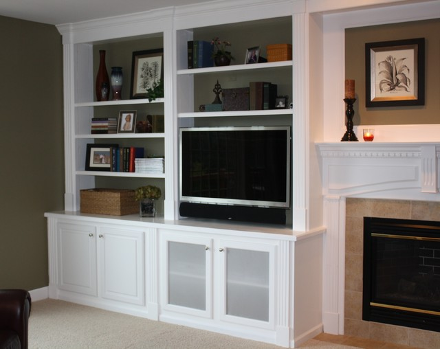 Built-In Bookcases - Traditional - Family Room - other ...