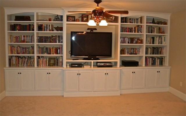 Built-in entertainment center/bookshelves eclectic-family-room