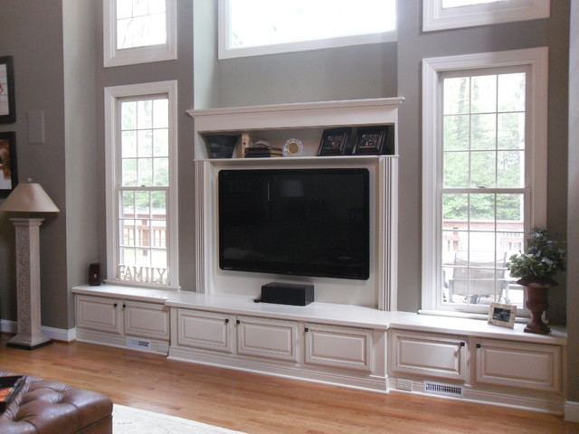 Built In Entertainment Center Great Falls Va Traditional Family