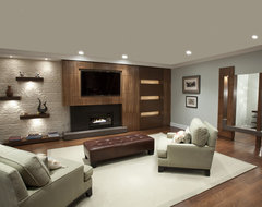 built in/ living room contemporary-family-room