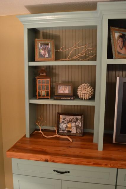 Built in Media Center beach-style-family-room