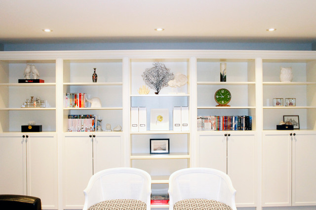 Built in shelf and bookcase modern wohnzimmer - Dolce vita toronto ...