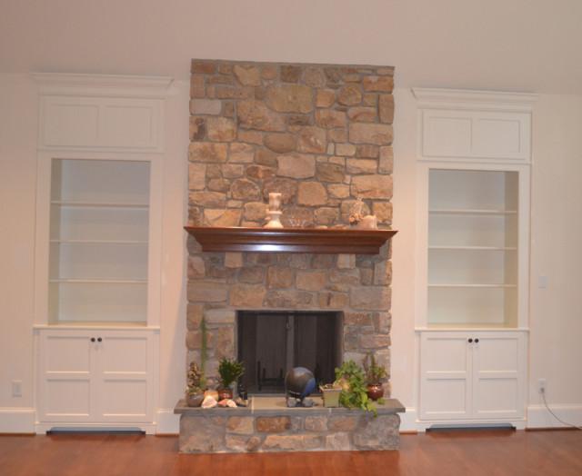 built ins around fireplace contemporary family room philadelphia by diplomat closet design. Black Bedroom Furniture Sets. Home Design Ideas