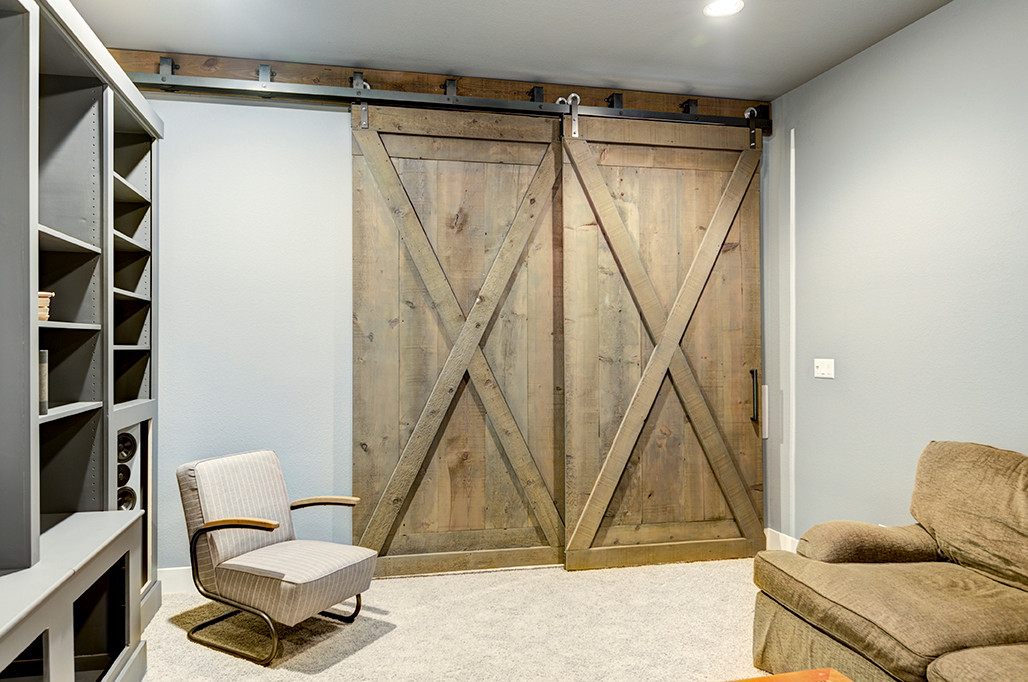 By-Pass Barn Doors for Media Room