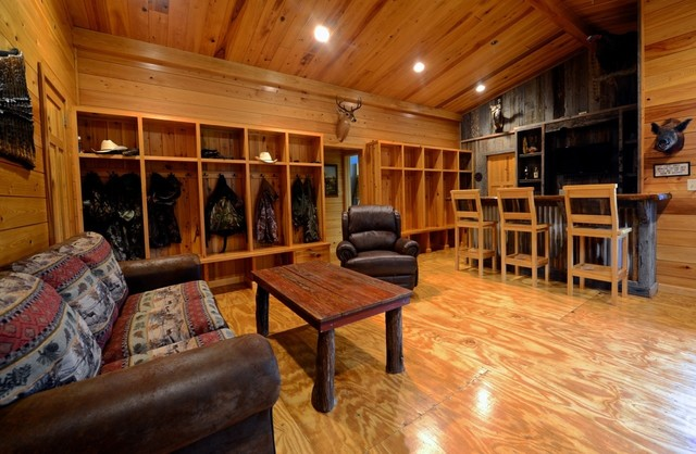 Cabin Renovation Traditional Family Room Miami By