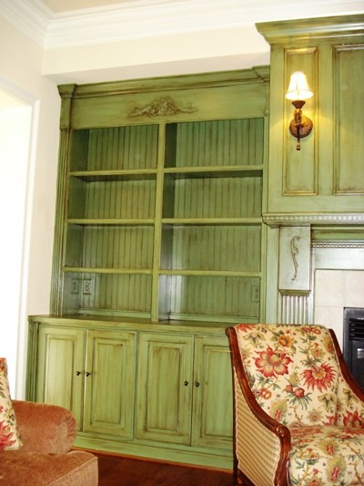 Cabinet Refinished traditional-family-room