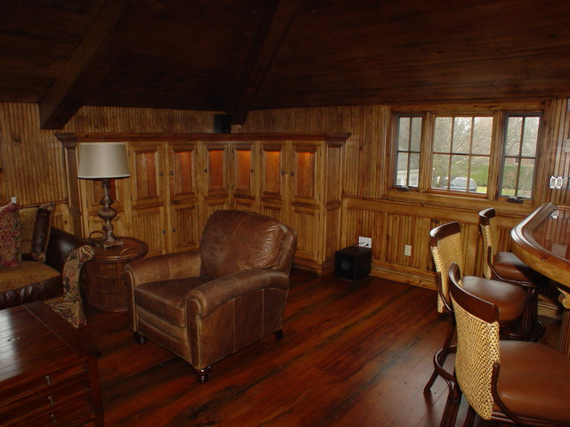 Cabinetry Millwork East Hampton NY Rustic Family Room New York