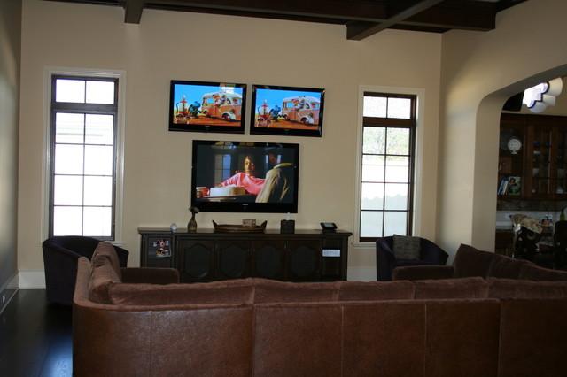 Calabasas Home Theater contemporary-family-room