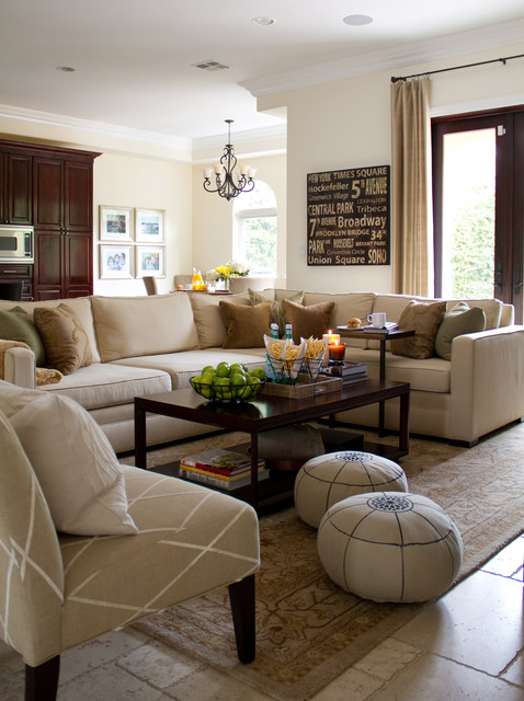 California casual family room traditional-family-room