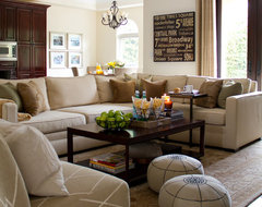 California casual family room traditional family room
