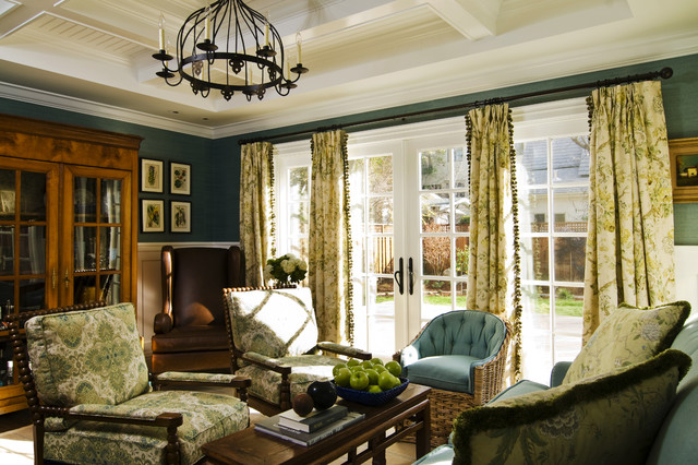 California Cottage Traditional Family Room San