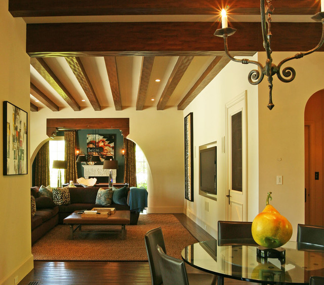 Interior Designers Decorators California Mission Style Eclectic Mediterranean Family Room