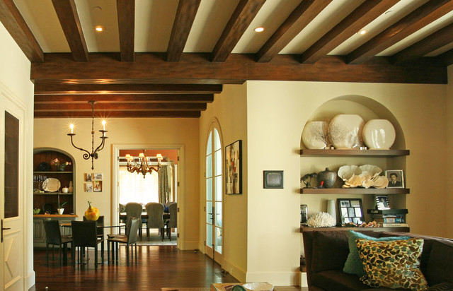 California Mission Style Eclectic Mediterranean Family Room