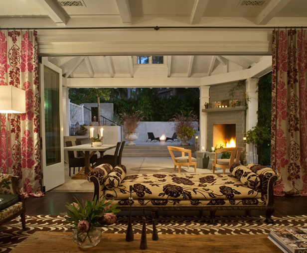 California Outdoor Spaces Eclectic Family Room San
