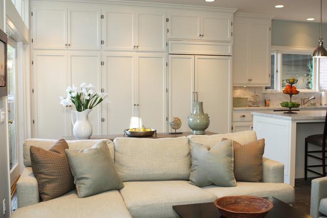 California ranch style home contemporary family room for California interior style