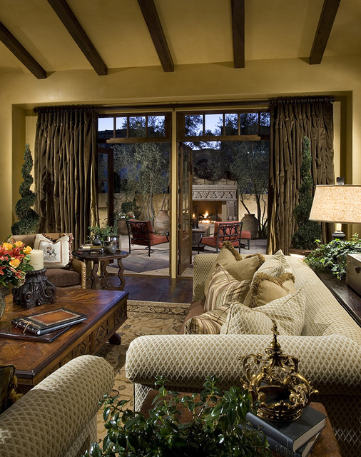 Camelback Mountain Villas mediterranean family room