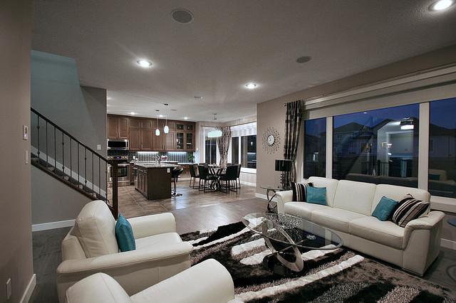 Cameron Model Show Home Contemporary Family Room