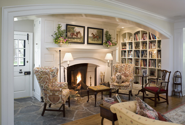 Canary cottage traditional family room philadelphia for Southern living keeping room ideas