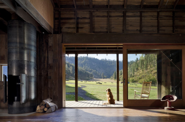 Canyon Barn rustic-family-room