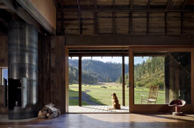 Canyon Barn rustic-family-room