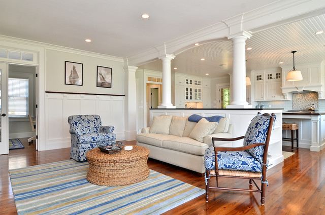 Cape Cod Shingle Style Home Traditional Family Room