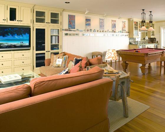 Capitola Beach House beach-style-family-room