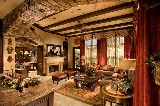Carlsbad Ca Mediterranean Family Room Orange County