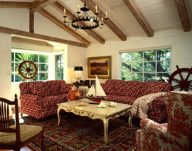 Carmel Highlands Residence Traditional Family Room