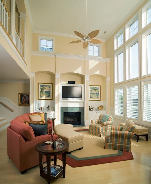 Carolina Living beach-style-family-room