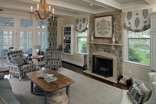 Rustic Chic Family Room carolyn ricciardi interiors - eclectic - family room - boston -