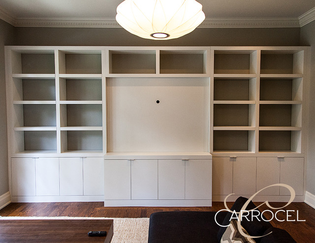 Superior Carrocel Custom Built In Entertainment Media Center Cabinet  Contemporary Family Room