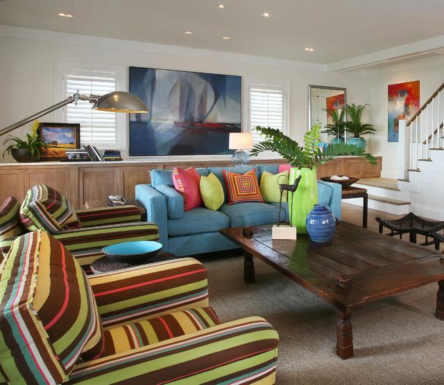 Casey Key Vacation Home contemporary-family-room