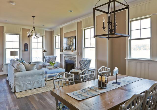 Cassatt row cottage bay creek beach style family room for Cottage style family room