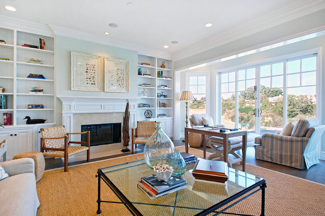 Casual Coastal Family Room Traditional Family Room