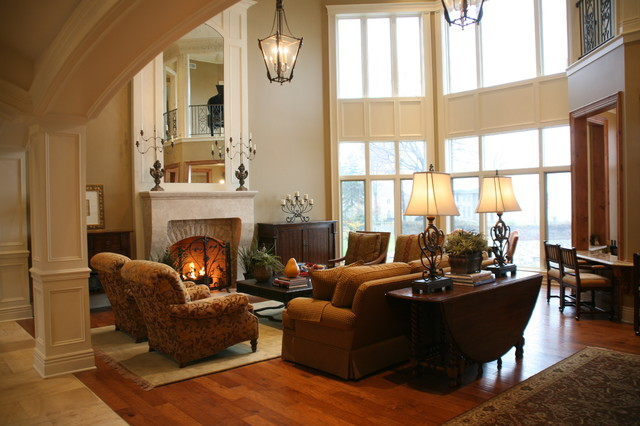 Casual Elegance traditional family room