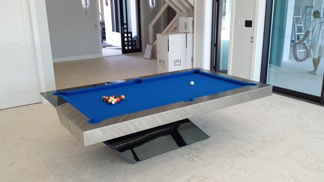 catalina pool table by mitchell pool tables contemporary family room