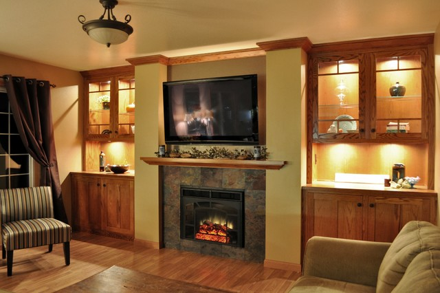Design Fireplace Wall fireplace styles and design ideas Cedar Falls Fireplace Wall Contemporary Family Room