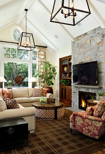Cedar Lane traditional family room