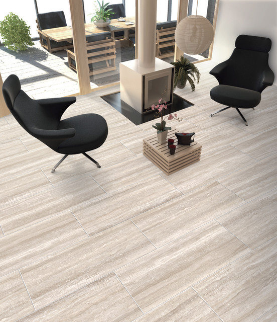 New Ceramic & Porcelain Tile ideas - Contemporary - Family Room  TQ87