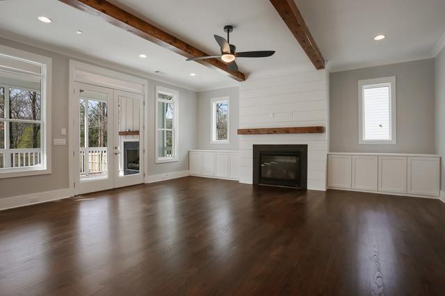 Cottage family room photo in Atlanta